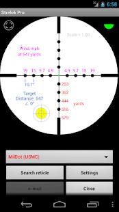 Strelok Pro - náhled