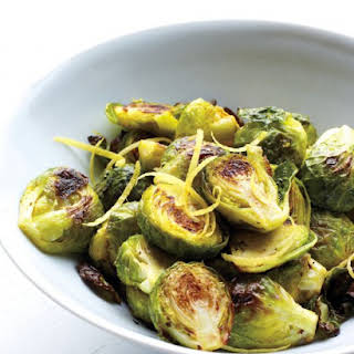Spiced Lemony Brussels Sprouts.