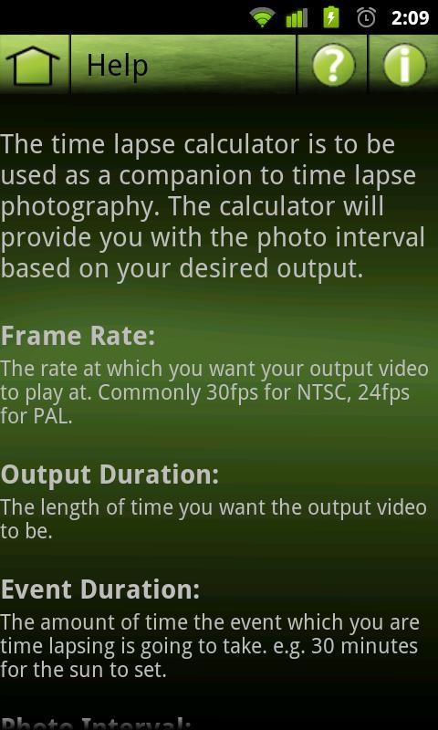 Time Lapse Calculator Lite- screenshot