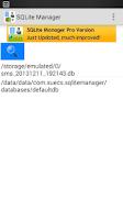 Screenshot of SQLite Manager