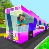 Dino Bus - Minecraft Style
