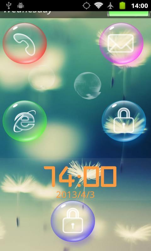 Bubble Screenlock - screenshot