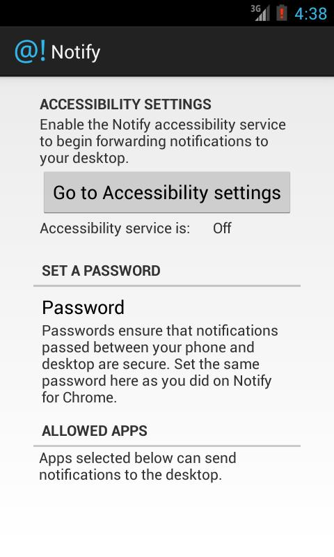 Notify - screenshot