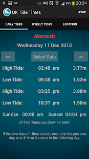 UK Tide Times- screenshot thumbnail