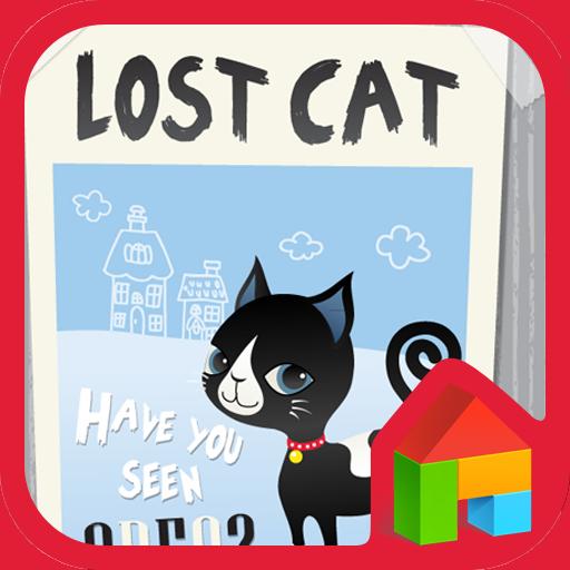 lost cat 도돌런처 테마 個人化 App LOGO-APP試玩