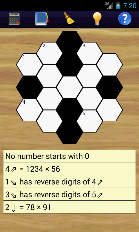 Math Hexagon Puzzles- screenshot