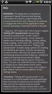 Talking GPS Speedometer- screenshot thumbnail