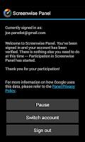 Screenshot of Screenwise Panel