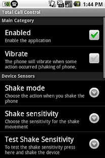 Total Call Control(Shake Call) - screenshot thumbnail