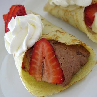Mousse Filled Crepes.