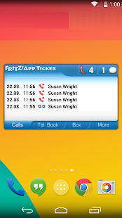 FRITZ!App Ticker Widget- screenshot thumbnail