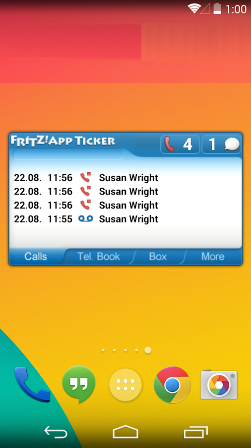 FRITZ!App Ticker Widget- screenshot