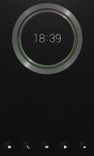 Black UI Clock UCCW
