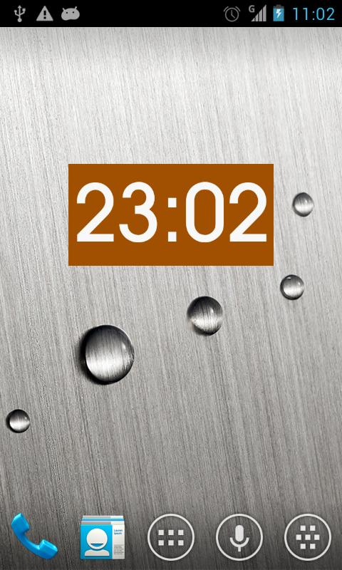 Metro clock uccw skin- screenshot