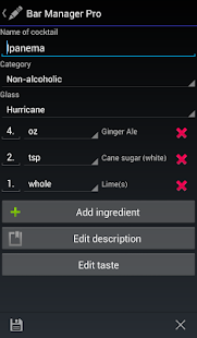 Bar Manager Pro - Cocktail App- screenshot thumbnail