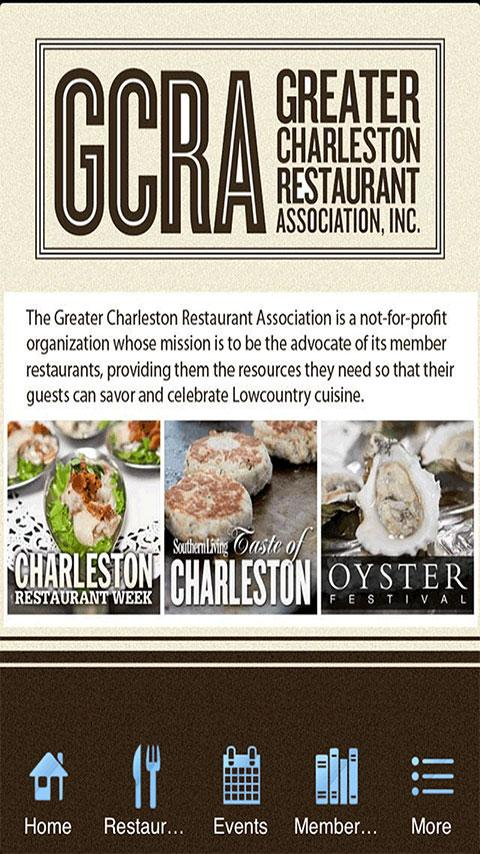 Charleston Restaurant Assoc. - screenshot