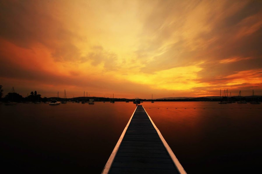 Bolton Point Jetty' by Karynne Lawler - Landscapes Sunsets & Sunrises