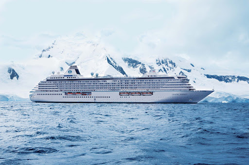 Crystal Serenity will take you past lovely ice fields and glaciers in Antarctica.