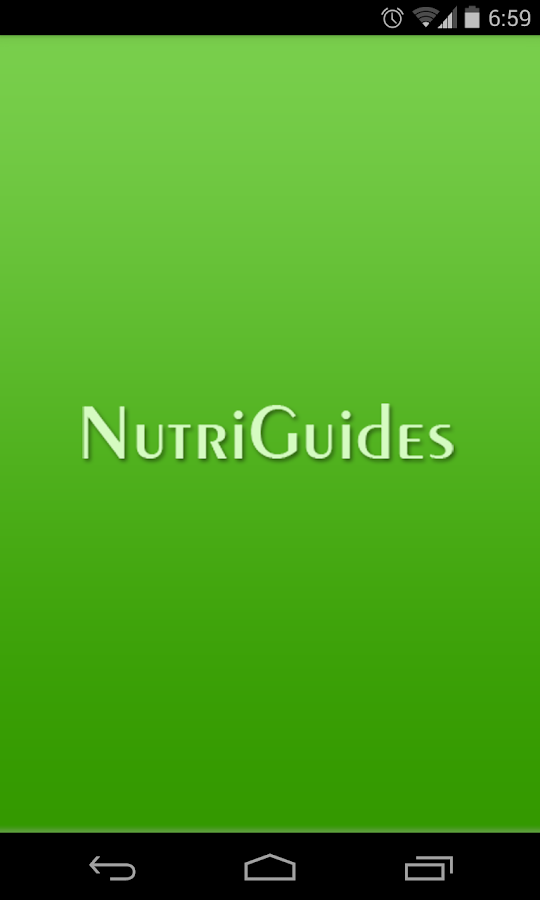 NutriGuides Mobile- screenshot