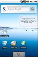 Screenshot of Fortune Widget