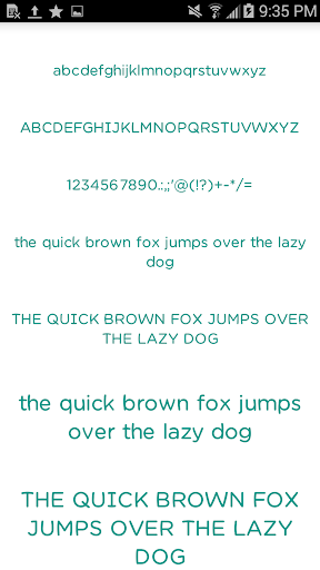 Color Fonts for FlipFont 7