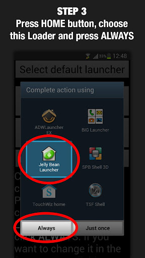 Top Application and Games Free Download Jelly Bean Launcher Loader 1.0.1 APK File