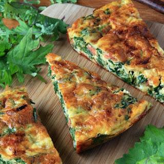 Kale Frittata - a Healthy Breakfast Casserole Recipe