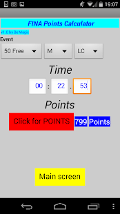 FINA points & stopwatch- screenshot thumbnail