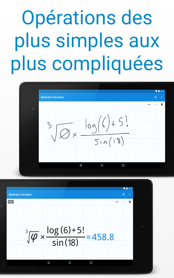 MyScript Calculator – Capture d'écran