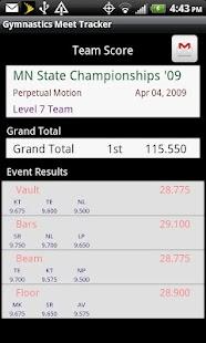 Gymnastics Meet Tracker- screenshot thumbnail