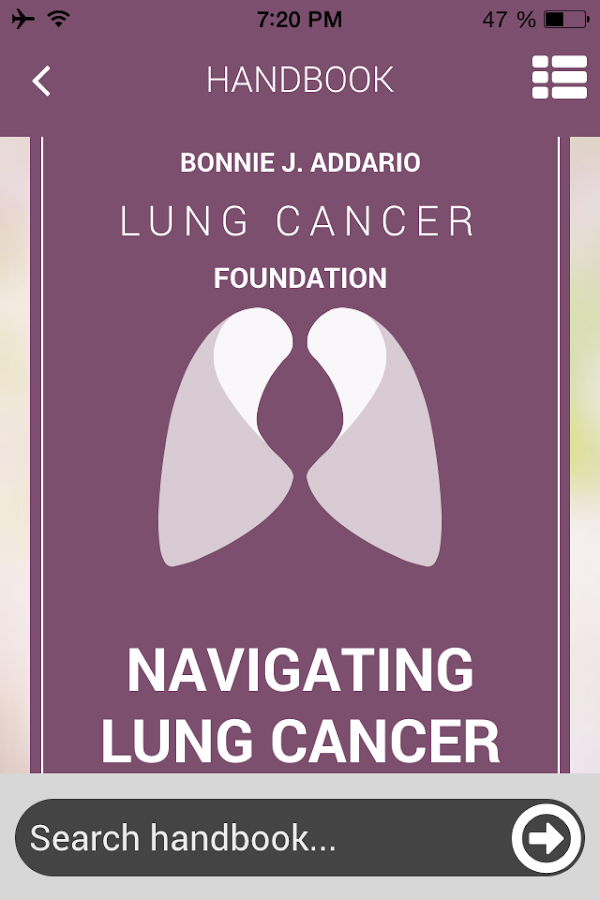Lung Cancer Foundation- screenshot