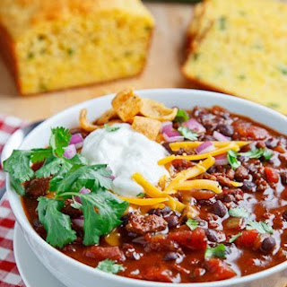 Beef and Black Bean Chili.