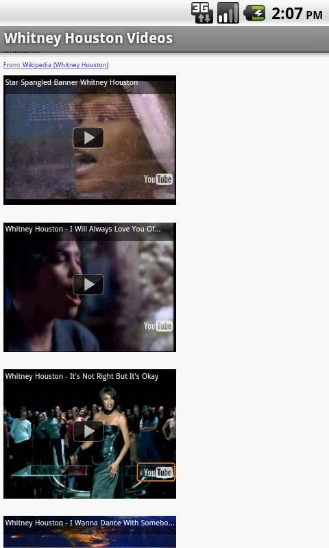 Whitney Houston Videos - screenshot