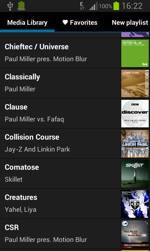 Inline Music Player - screenshot