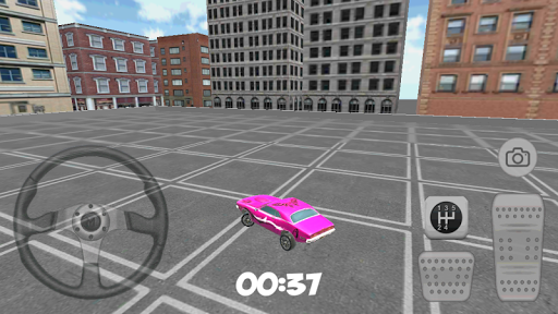 3D City Purple Car Parking
