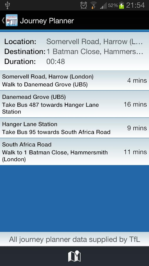 Live London Bus Tracker - screenshot