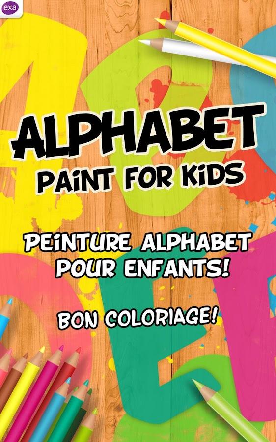 peinture alphabet pour enfants applications android sur. Black Bedroom Furniture Sets. Home Design Ideas
