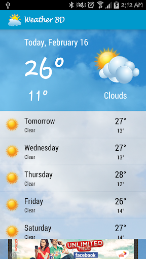 Weather BD