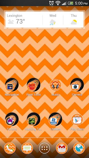 Chevron Orange Theme