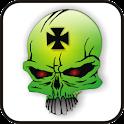 Skull IronCross doo-dad green logo
