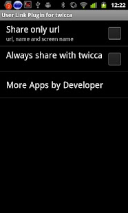 User Link Plugin for twicca- screenshot thumbnail