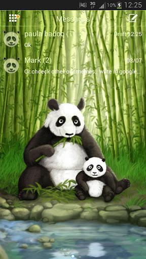 GO SMS Pro Theme Panda短信臨主題熊貓