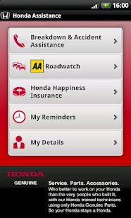 Honda Breakdown Assistance - screenshot thumbnail
