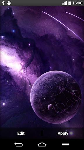 宇宙銀河ライブ壁紙