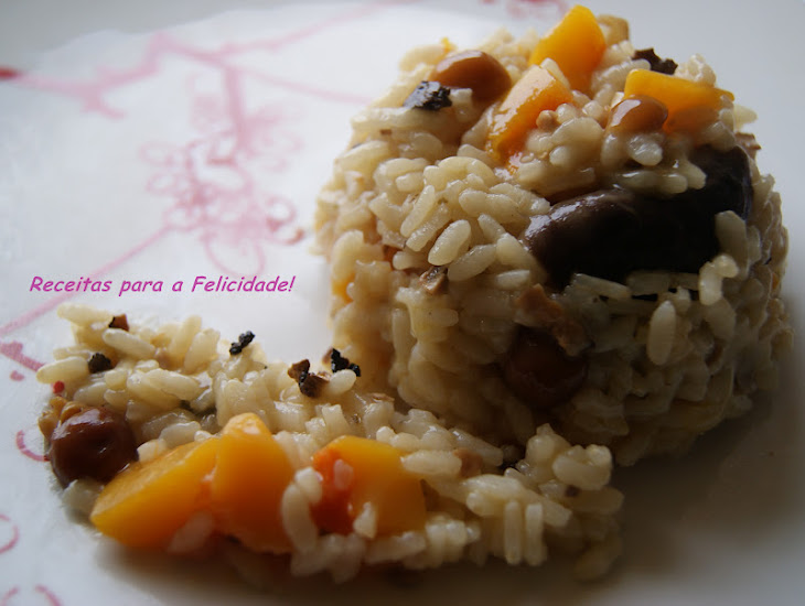 Pumpkin Risotto with Truffles and Mushrooms Recipe