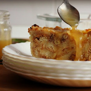 Pineapple Bread Pudding with Hard Sauce.