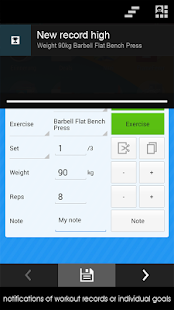 Fitness Workout Log Diary - screenshot thumbnail