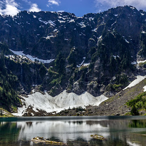 Lake 22 by Stanton Hunter - Landscapes Waterscapes ( washington, nature, snow cap, lake 22, lake )