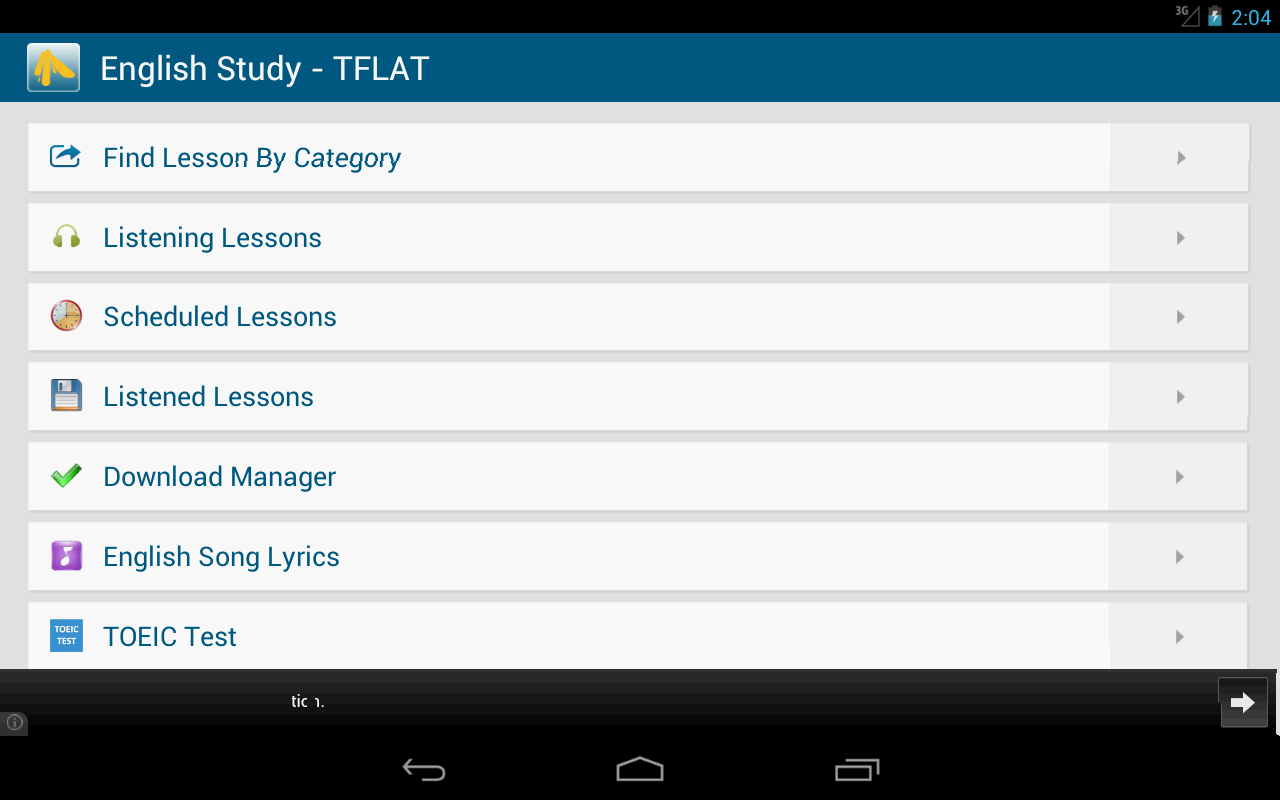 English Study Free - TFLAT - screenshot