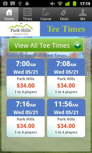 Park Hills Golf Tee Times